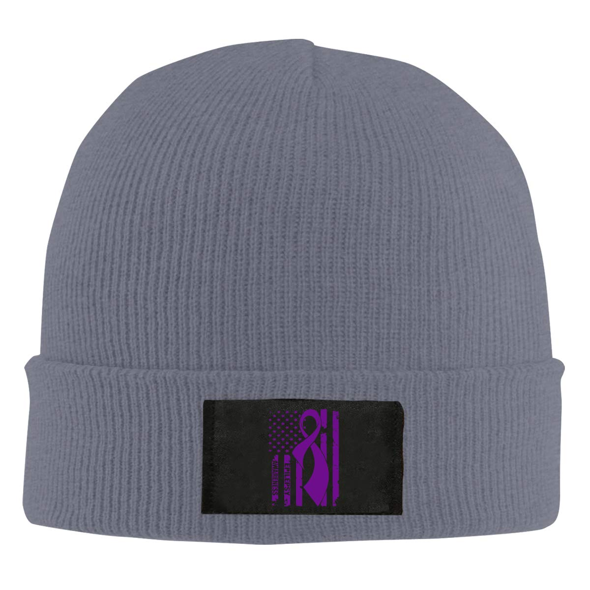 Epilepsy Awareness Flag Unisex Warm Winter Hat Knit Beanie Skull Cap Cuff Beanie Hat Winter Hats