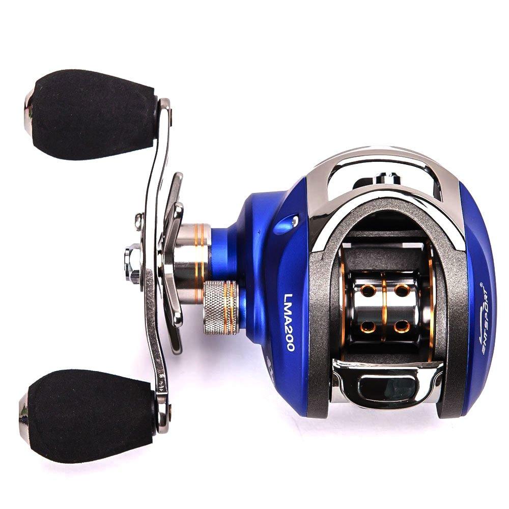 ... Carrete Carrete de pesca 10 + 1 rodamientos de bolas carrete Baitcast carrete pesca carrete sistema de frenado magnético Baitcasting: ...