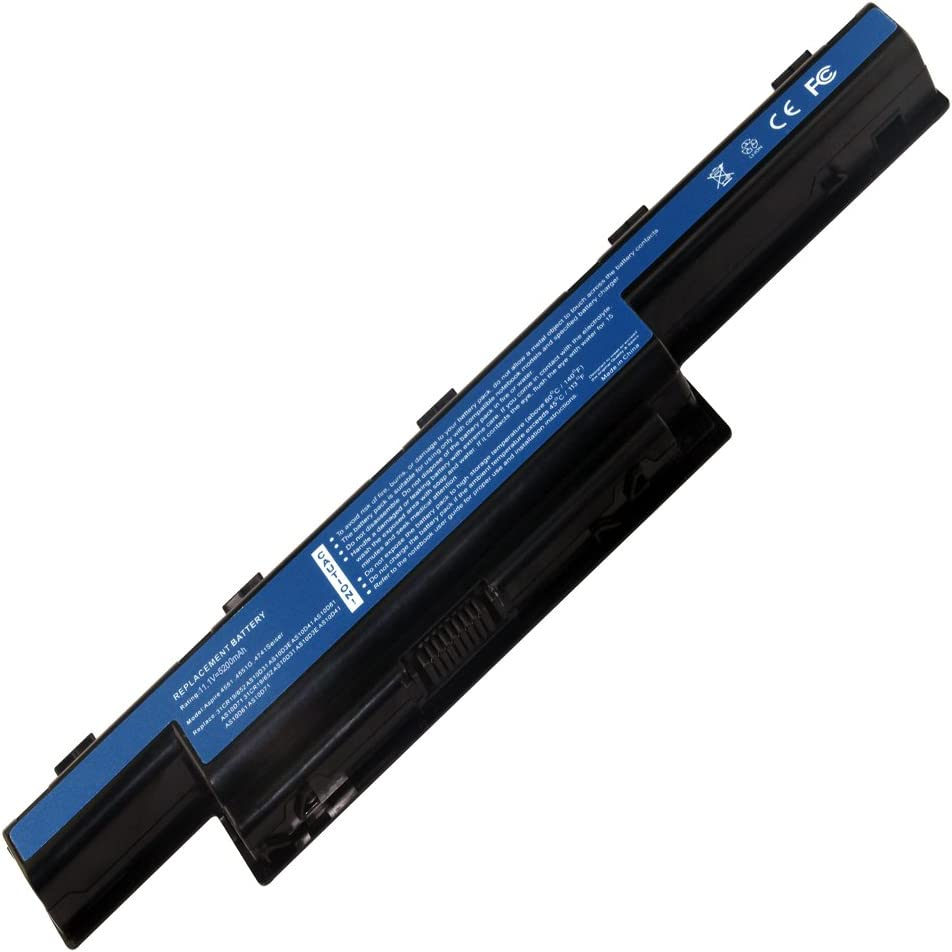 USTOP Replacement Laptop Battery for Acer Aspire 4253, 4551, 4552, 4738, 4741, 4750, 4771, 5251, 5253, 5551, 5552, 5560, 5733, 5741, 5742, 5750, 7551, 7552, 7560, 7741, 7750, AS5741 Series, [11.10V,5200mAh,Li-ion]