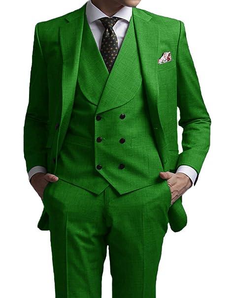 41a8ff7c5f02b DGMJ Mens Suit Slim Fit 3 Piece Solid Color Formal Dress Suit Tuxedo ...