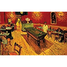 """Buyartforless Night Cafe with Pool Table by Vincent Van Gogh 24""""x36"""" Art Print Poster"""