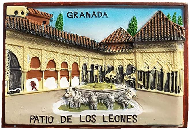 MUYU Magnet Imán para Nevera con diseño de Granada España en 3D, hogar o la Cocina, con imán para Nevera de Granada España: Amazon.es: Hogar