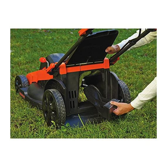 BLACK+DECKER 40V MAX Cordless Lawn Mower, 20-Inch (CM2043C) 9 Two 40V max Lithium ion batteries are included for twice the runtime Mulching, bagging and side discharge of grass clippings gives you 3-in-1 versatility Mow right up to edges and spend less time trimming thanks to the edgemax design