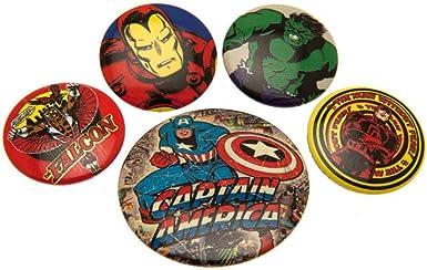 Marvel Comics - Pack de chapas (Talla Única/Multi-colour): Amazon.es: Ropa y accesorios