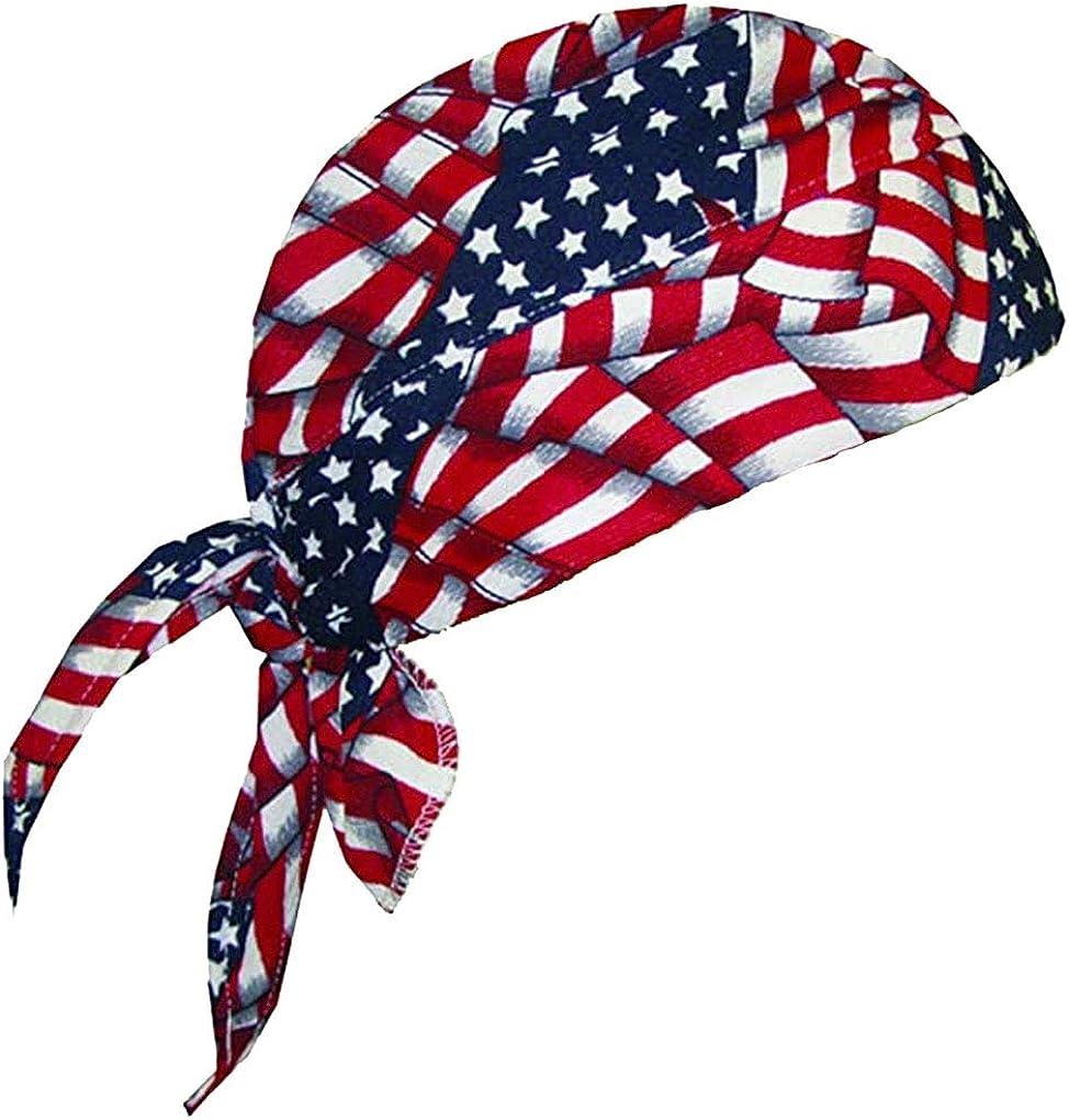 TechNiche International HyperKewl Evaporative Cooling Skull Cap - USA Flag - 6536-USA