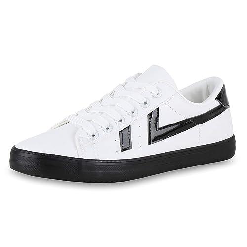 SCARPE VITA Damen Sneaker Low Glitzer Freizeitschuhe