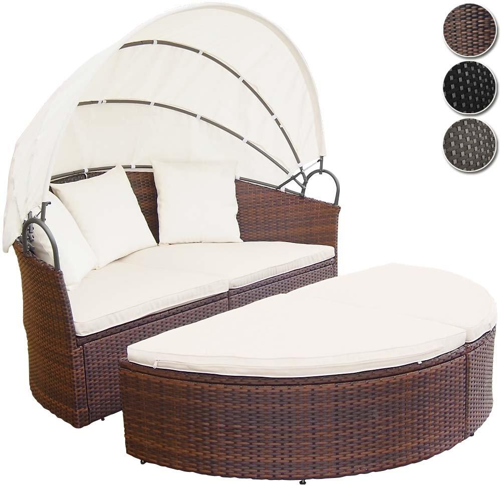 Miadomodo conjunto de sillones isla para jard n de for Sillones de ratan para jardin