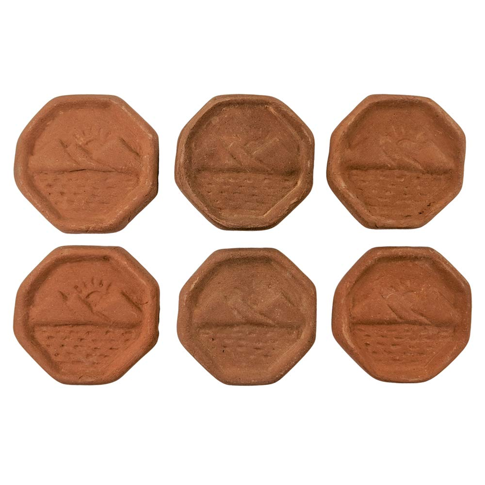 Clay Brown Sugar Keeper Set of 6 Disk - Terra Cotta Brown Sugar Saver Handmade in Central America with Fair Wages