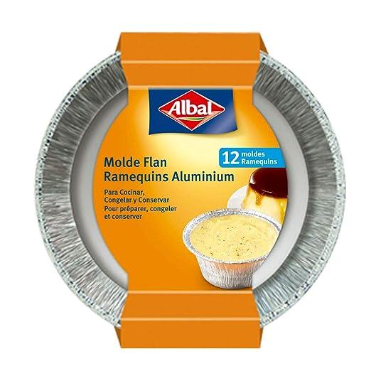 Albal Aluminio para Flan   Desechables   8x8x6 centímetros ...