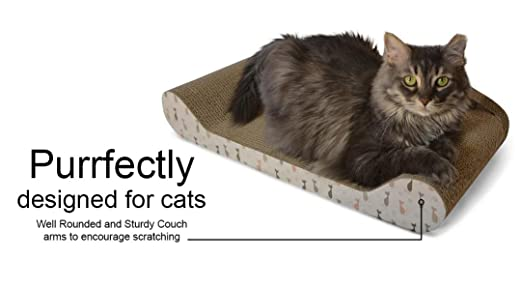Amazon.com : Feline Be Mine Cardboard Cat Scratcher Couch   Kitty Couch  Scratching Pad Sofa Bed Protect Furniture Getting Damaged   Kitten Lounger,  ...