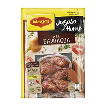 Maggi Jugoso al Horno a la Barbacoa - 1 Bolsa para Horno con Condimentos a la Barbacoa - 30g: Amazon.es: Amazon Pantry