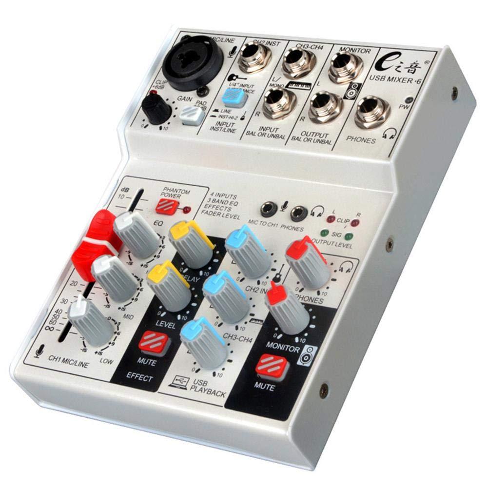 Widewing Live Sound Card Studio Audio Sound Mixer Console Network Anchor (Mixer 6)