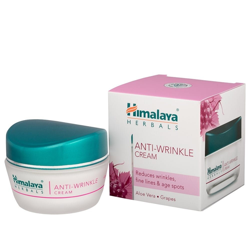 Himalaya Anti-Wrinkle Cream with Grapes and Aloe Vera, Reduces wrinkles, Fine Lines and Age Spots, 1.69 Oz/50 ml Himalaya Herbal Healthcare 7000543