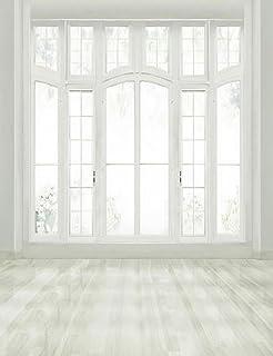 White Room Window Photo Backdrop Bright Wood Floor Simple Interior Photography Studio Background 5x7 Ft