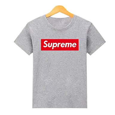 27bf459ca80f79 Supreme Classic Box Logo Grey Tee Reproduction T Shirt Replica Street Wear T -Shirt (