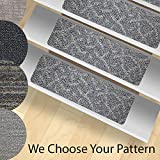 installing carpet on stairs (Set of 13) Non-Slip (23-inch x 8-inch) Stair Treads - Indoor and Outdoor Use