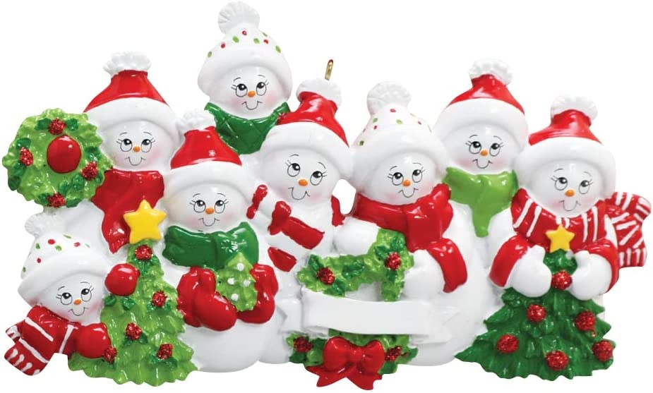 Five Children Wooden Snowman Family Quality