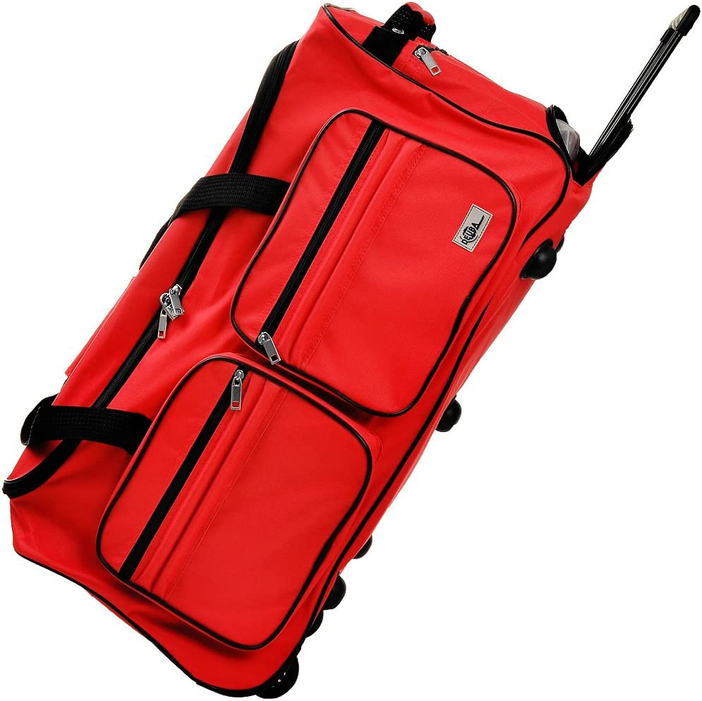 Deuba Bolsa de Viaje Deporte Maleta Roja 85 litros 70 x 36 x 34 2 Ruedas 5 pies Mango telescópico extraíble Viajes