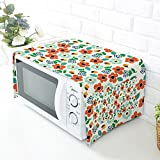 Floral Printed Microwave Oven Dustproof Cover Protective Cover with Cotton & Linen Fabric - Home Kitchen Caffee Workshop Bar HZC30-B #3