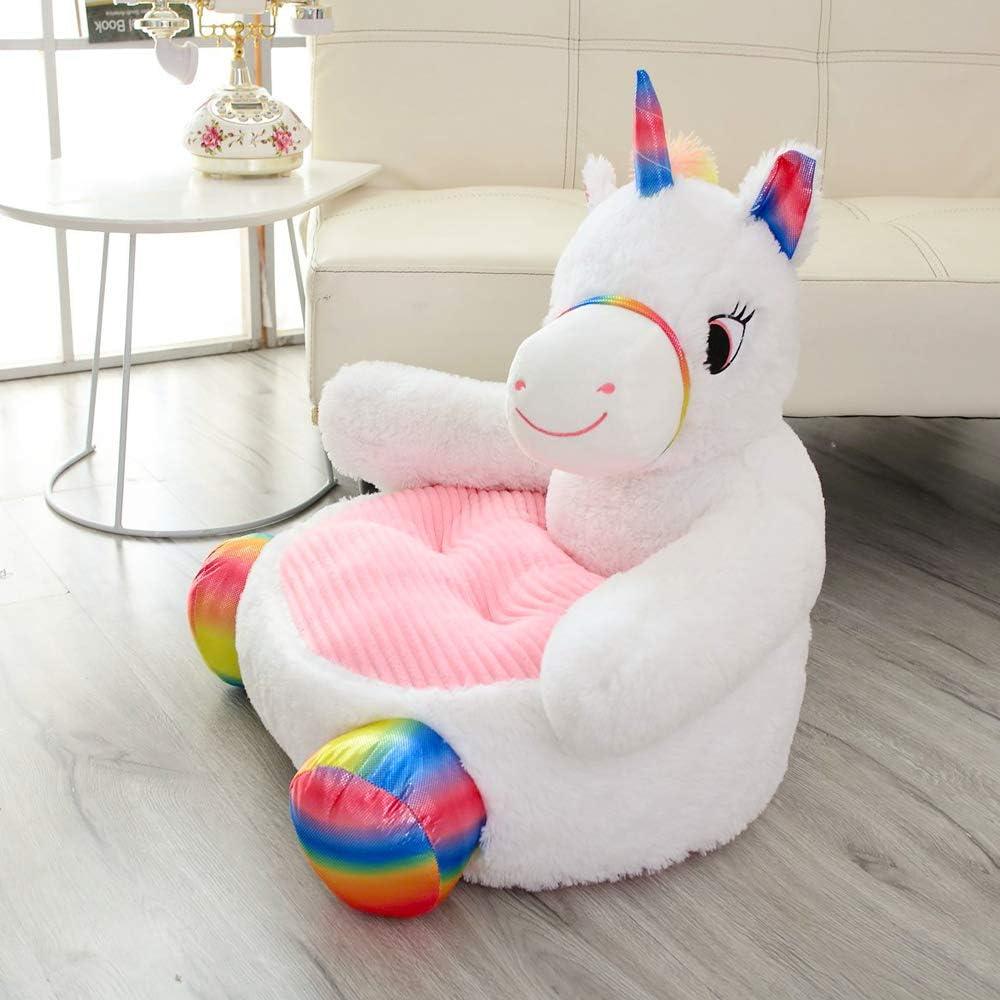 Tickos Divano per Bambini Peluche Unicorno Poltrona Soffice Animale Sedia Cuscino Bambola di Peluche Orso