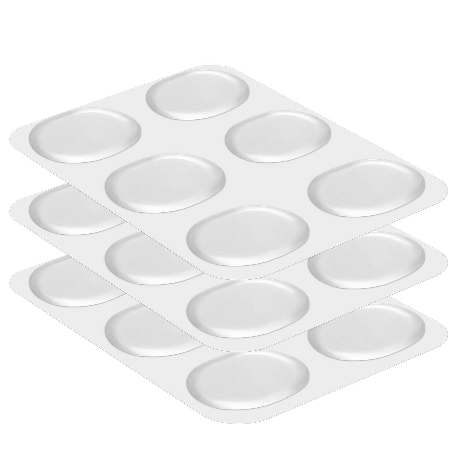 Dreamtop 18 Pieces Drum Damper Gel Pads Silicone Drums Silencer for Drums Tone Control- Clear