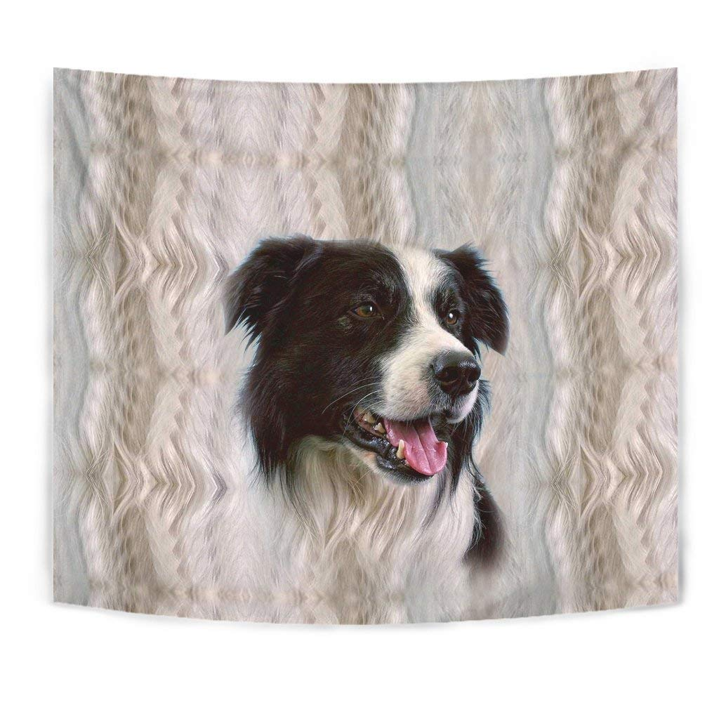 Cute Border Collie Print Tapestry by Breedink