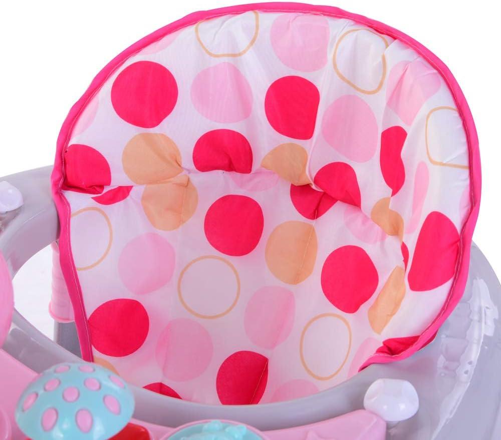 Azul Andador para beb/é Baby Walker interactivo con luces y m/úsica