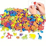 Fun Express Foam Self-Adhesive Animal Shapes (1000 Pieces)