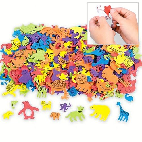Fun Express Foam Self-Adhesive Animal Shapes (500 Piece)