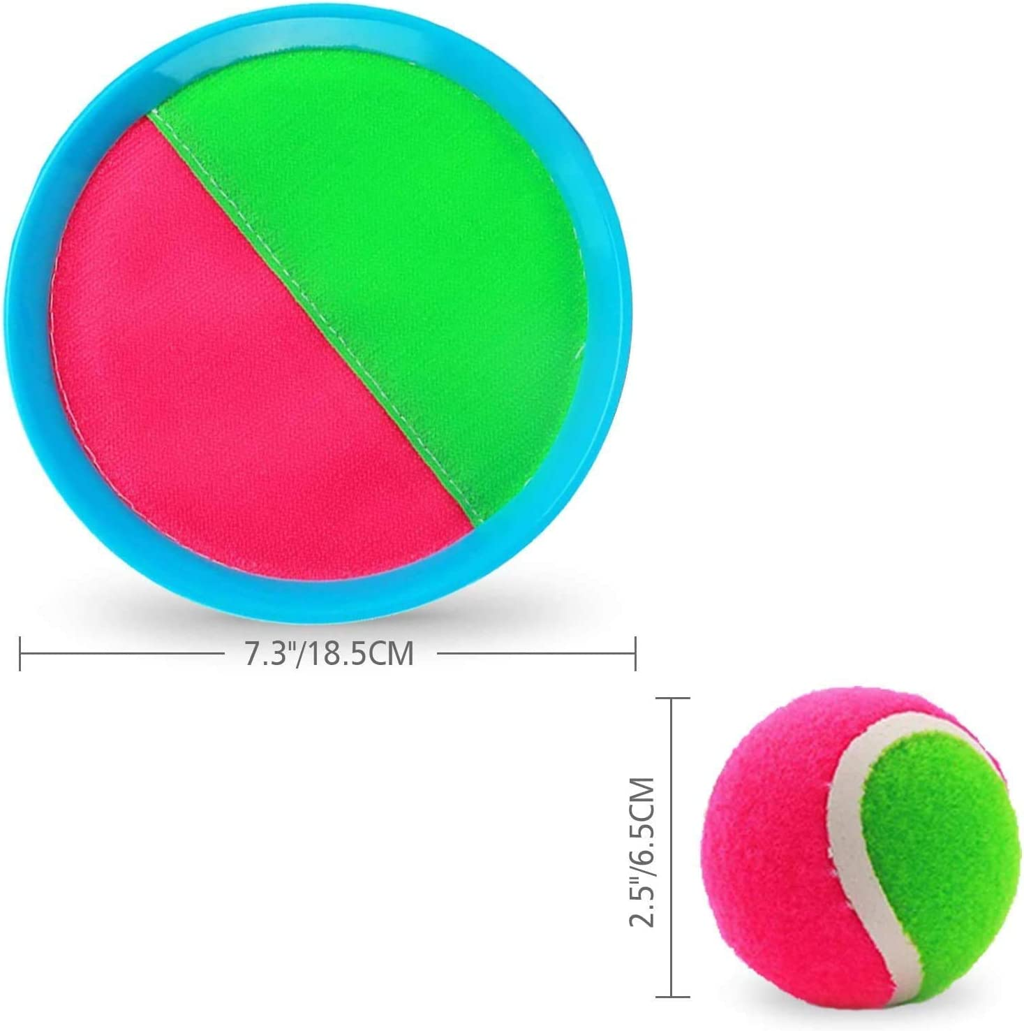Outdoor Sport Balls Game Toys for Boys Girls Kids Abbiline Ball and Catch Game-Paddles Toss and Catch Ball Set with 2 Paddles 2 Balls