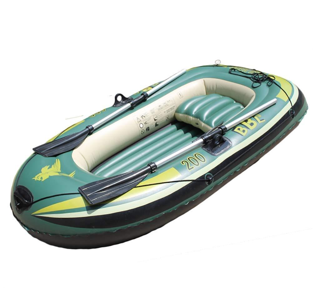 ゴム耐摩耗性インフレータブルボート釣り折りたたみ式スチームボートダイレクトカヤック3厚ダブル高速2人セットオールと高出力エアーポンプ