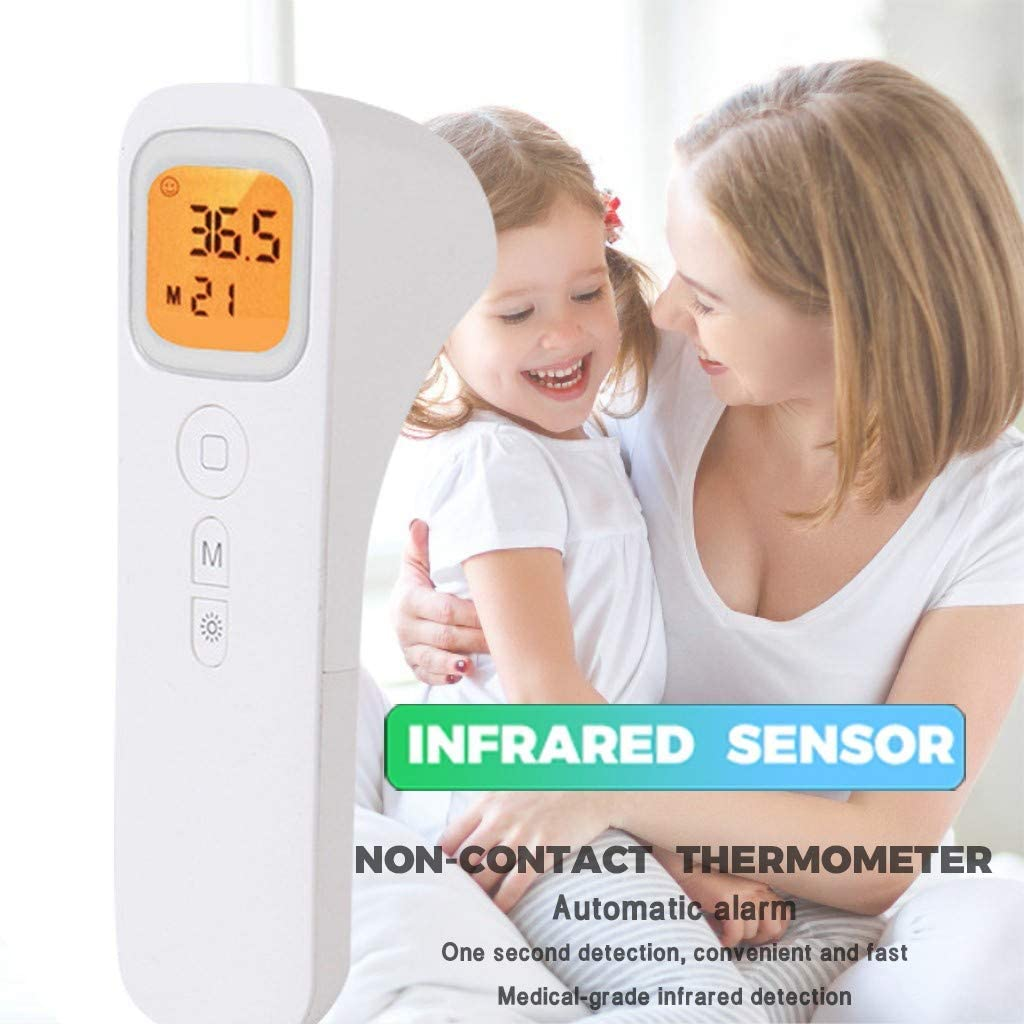 Forehead and Ear Thermometer with Fever Alarm and Memory Function Fast Accurate Reading for Babies Portable Non-Contact Digital Infrared Thermometer A Kid Adults