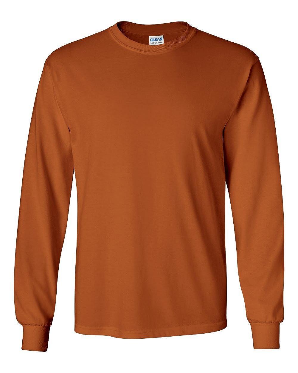 TALLA M. Gildan Ultra Cotton L/Sleeve tee, Camiseta para Hombre