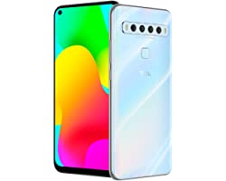 """TCL 10L, Unlocked Android Smartphone with 6.53"""" FHD + LCD Display, 48MP Quad Rear Camera System, 64GB+6GB RAM, 4000mAh Batter"""
