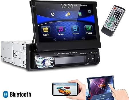 Autoradio 1 Din Versenkbarer Bildschirm 7 Stereo Auto Touch Bluetooth Usb Sd 6712 Navigation