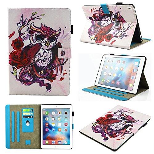 inShang iPad iPad Pro 10.5 Fundas soporte y carcasa para iPad Pro 10.5 inch ((2017 Release) , smart cover PU Funda con Patrón de Diamante + clase alta 2 in 1 inShang marca negocio Stylus pluma Butterflies and owls