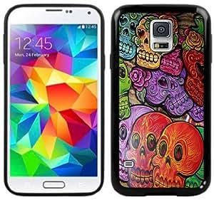 2015 CustomizedDay of the Dead Dia de los Muertos Handmade Samsung Galaxy S5 Black Case