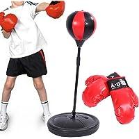 Kum torbası Hız için çocuk-Set Boxhandschuhen ve tutacak ile ayarlanabilir yükseklik 70–105cm siyah ve kırmızı