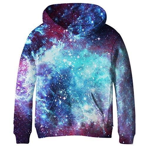 - SAYM Big Girls Galaxy Fleece Pockets Sweatshirts Jacket Pullover Hoodies NO25 S