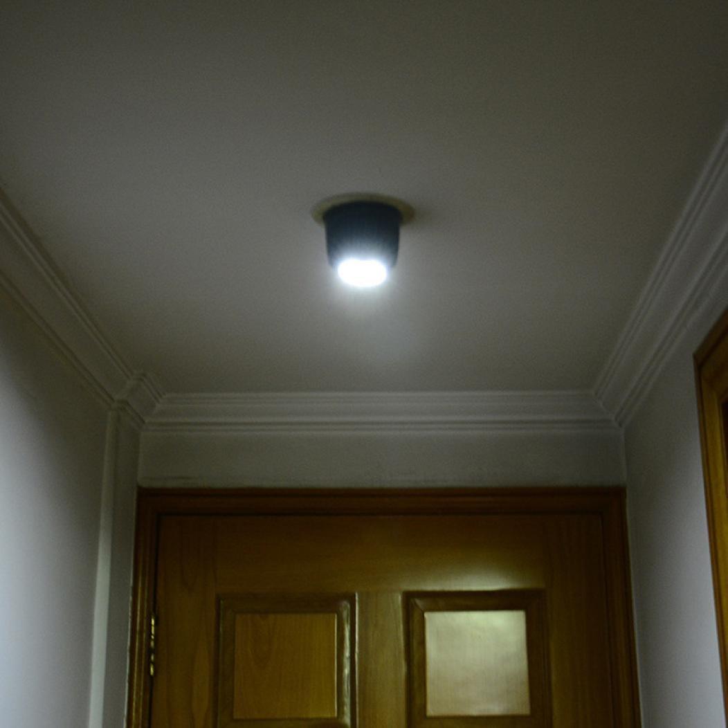 Wuayi 360° Rotation SMD LED-Bewegungsmelder, Nachtlicht Lampe für Außen Treppen-Bewegungsmelder mit Licht Nacht Licht Schwarz