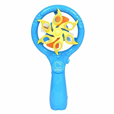 Xuways Toys Bubble Machine Summer Funny Music Magic Bubble Blower Machine Electric Mini Fan Kid Outdoor Toy: Home & Kitchen [5Bkhe1404007]