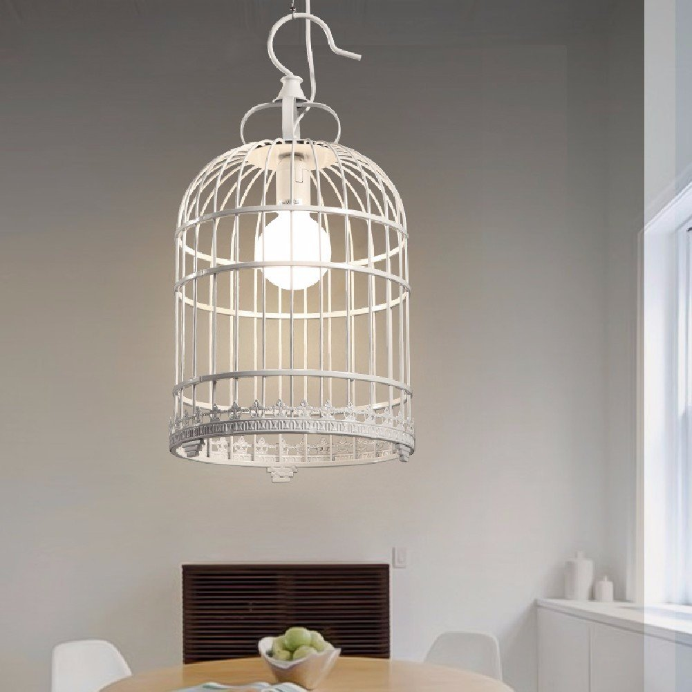 HQLCX Chandelier Nordic Country Restaurant Bar Cafe Bedroom Birdcage Iron Chandelier 250X480Mm