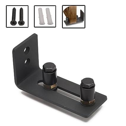 Adjustable Stay Roller Guide Barn Door Floor Guide Heavy Duty Wall Mounted  Door Wheel Hardware For