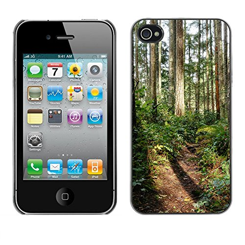 Premio Sottile Slim Cassa Custodia Case Cover Shell // F00032413 nuances de forêt // Apple iPhone 4 4S 4G