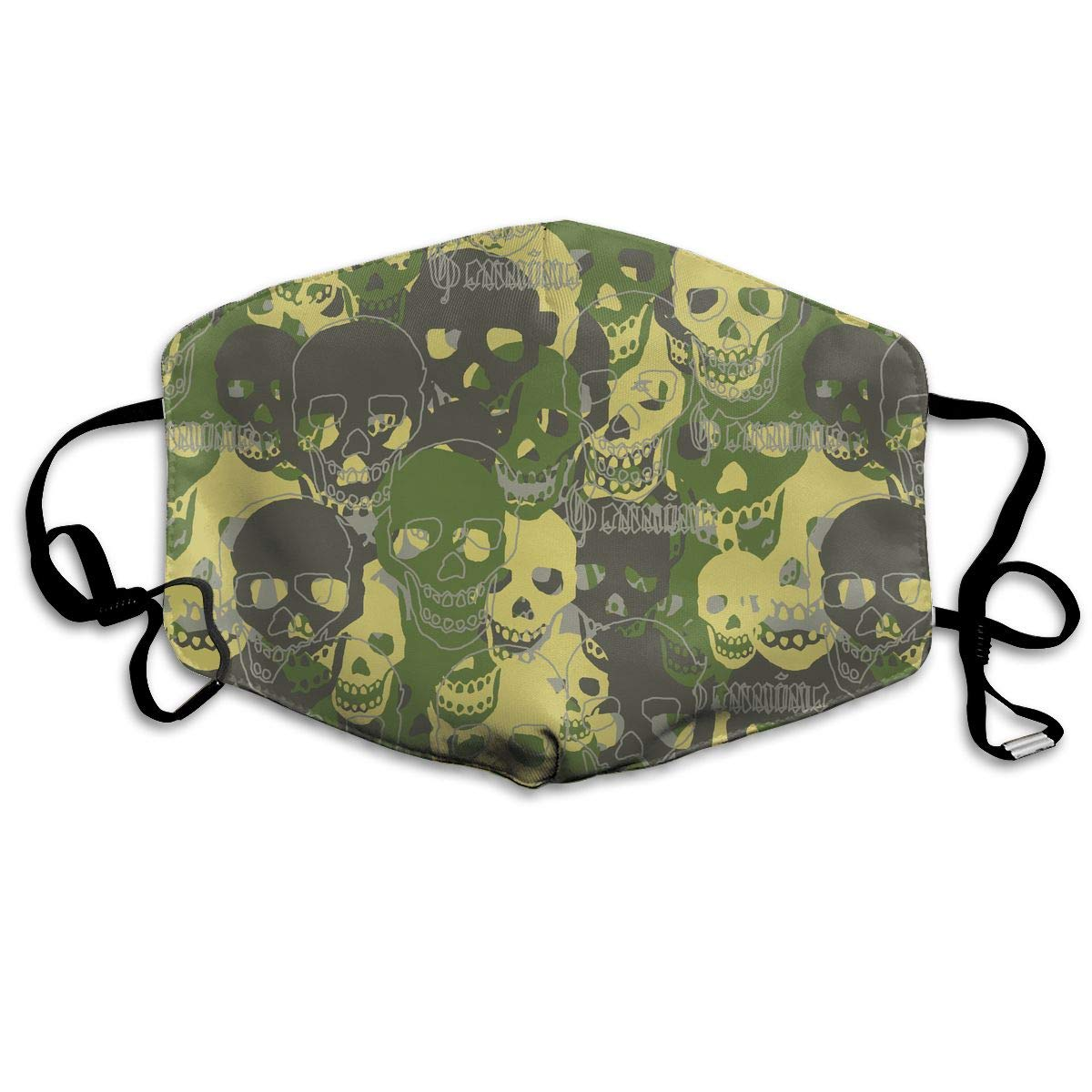 Unisex Skull Camouflage Pattern Printed Cotton Mouth-Masks Face Mask Polyester Anti-dust Masks