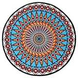 Living Room Round Carpet Ethnic Style Bedroom Carpet Household Room Computer Swivel Cushion Hanging Basket Environmentally Friendly Material