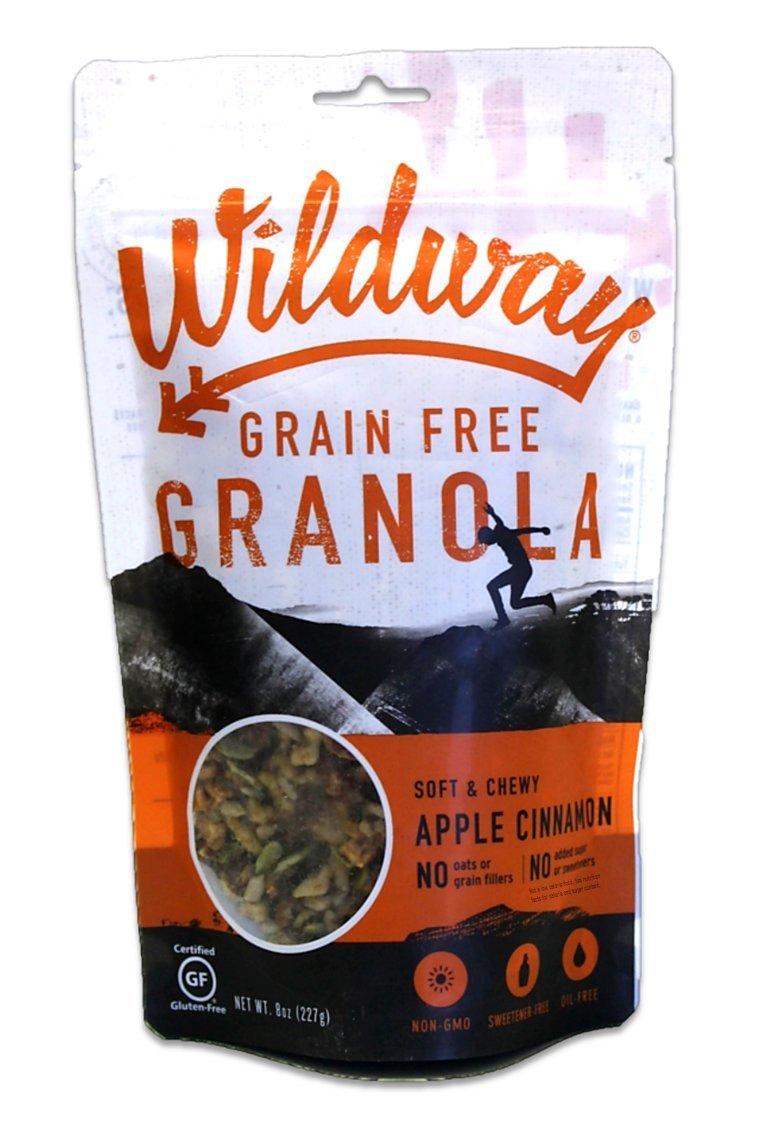 Wildway Keto, Vegan Granola   Apple Cinnamon Granola   Certified Gluten Free Granola Breakfast Cereal, Low Carb Snack   Paleo, Grain Free, Non GMO, No Added Sugar   8oz, 6 pack by Wildway