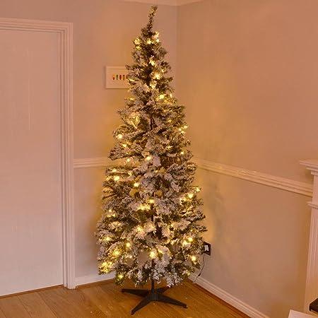 wholesale dealer 3631d e9c67 6ft Large Green Snow Frosted Pop Up Christmas Tree Pre Lit ...