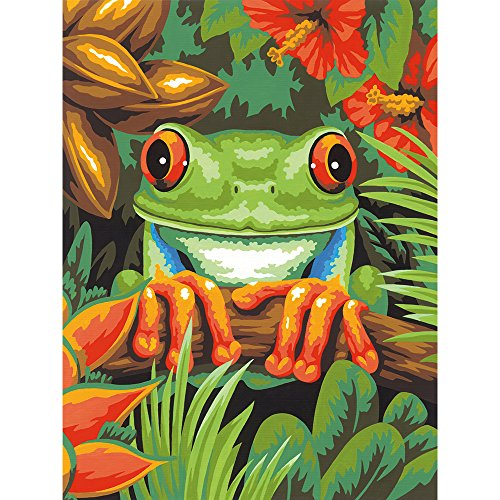 Dimensions Paint Works 73-91617 Tree Frog Paint-by-number Kit