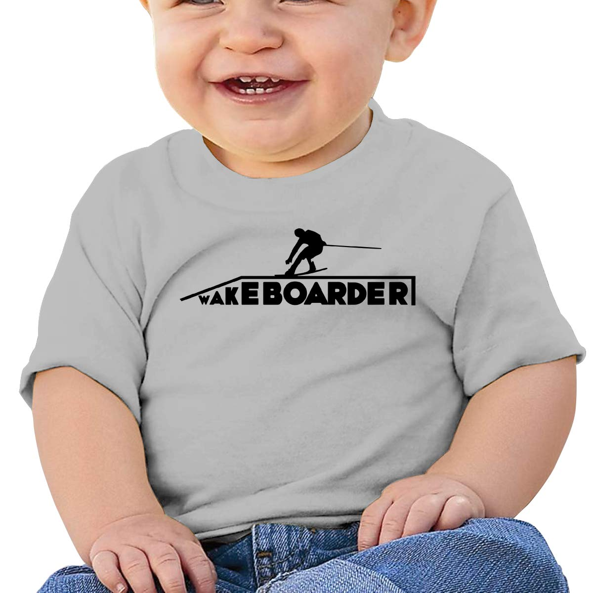 JVNSS Wakeboarder//Kiteboard Baby T-Shirt Baby Boy Girl Cotton T Shirts Funny Outfits for 6M-2T Baby